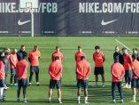 Minuto de silencio del FC Barcelona