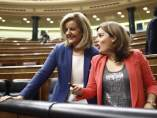 Soraya Santamaría y Fátima Báñez