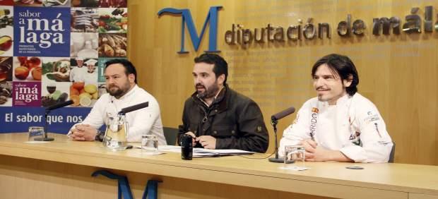 Rueda de prensa Sabor a Málaga Jacobo Florido Sergio Garrido Ignacio Carmona
