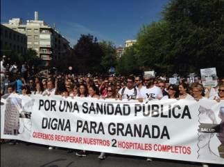 Manifestación sanitaria en Granada