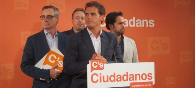 Albert Rivera, José Manuel Villegas, Juan Carlos Girauta, Fernando de Páramo (C's)