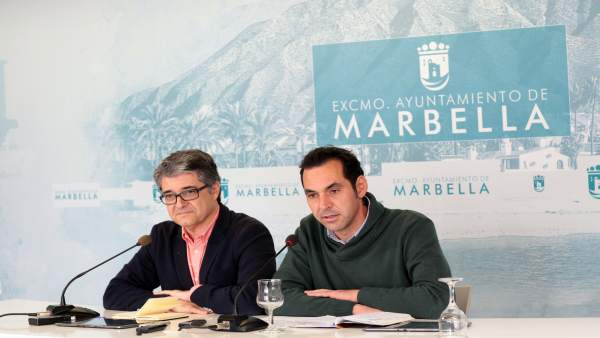Porcuna y Díaz en la  junta de gobierno local de Marbella