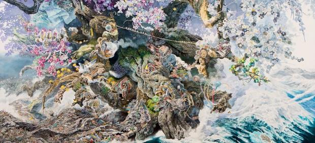 Pinta durante tres años y medio un cuadro minucioso sobre el terremoto de Japón de 2011