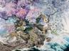 Tres años y medio para pintar un cuadro minucioso sobre el terremoto de Japón