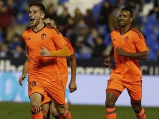 Gol de Medrán con el Valencia