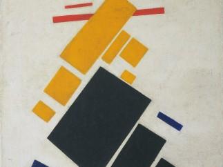 Kazimir Malevich (Russian, born Ukraine. 1878-1935). Suprematist Composition: Airplane Flying. 1915
