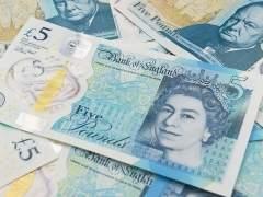 Nuevo billete de cinco libras con grasa animal