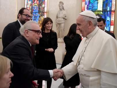 Martin Scorsese y el papa Francisco