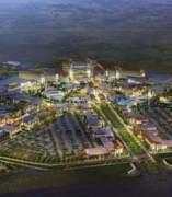 Maqueta del futuro complejo que se quiere levantar en Torres de la Alameda.