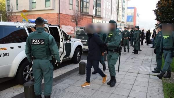 Operación Sierra de Hierro con detenidos en Santiago y Lugo.