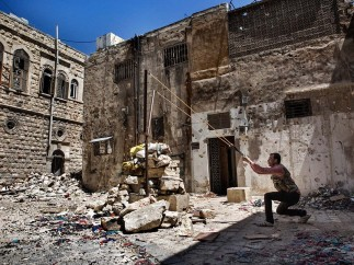 Nish Nalbandian - Old City of Aleppo, Syria on April 25, 2013