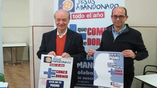El presidente de la Fundación, José Moreno, y el director, Daniel López