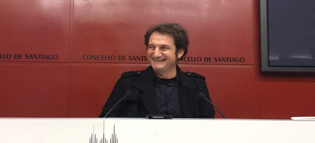 Jorge Duarte (Compostela Aberta) en rueda de prensa