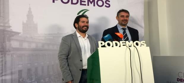Los parlamentarios de Podemos Juan Moreno Yagüe y David Moscoso
