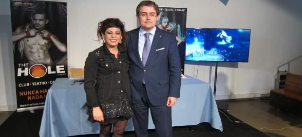 Cristina Medina y Jesús Pacheco, en la presentación de The Hole