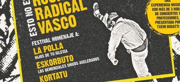 Cartel concierto homenaje Eskorbuto
