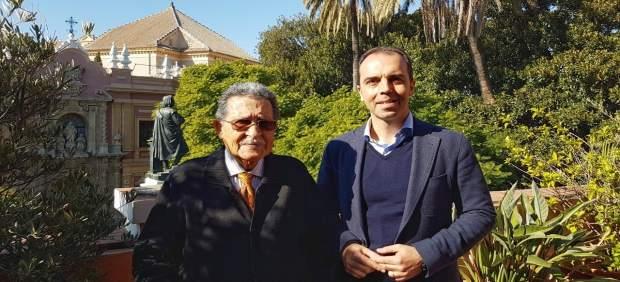El portavoz municipal de C's en Sevilla, Javier Millán, con Mariano Bellver
