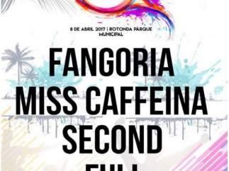Cartel con Fangoria y Miss Caffeina para el Elche Live Music Festival