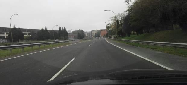 Entrada Oviedo, autovía, tráfico, carretera, Y, bulevar.