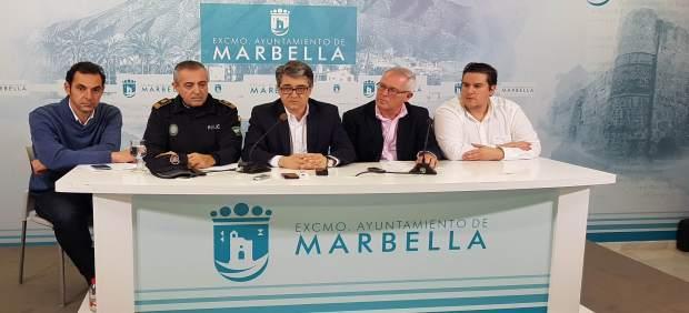 Porcuna, Piña, García, Díaz y Martín en la presentación.