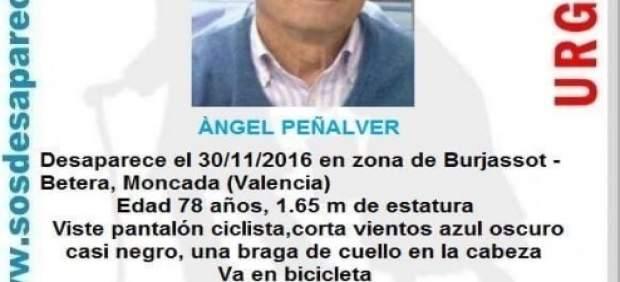 Busquen a un home de 78 anys desaparegut quan muntava en bicicleta entre Bétera i Burjassot