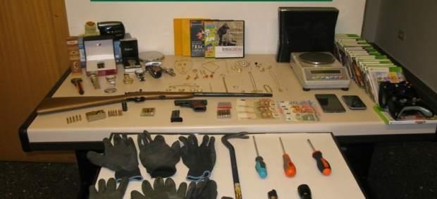 Material intervenido de robos en viviendas en la provincia de Pontevedra.