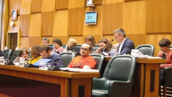 Alberto Cubero en el pleno del Ayuntamiento.