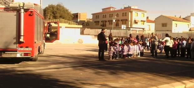 Evacuación de un colegio