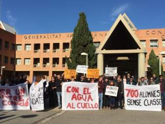 Protesta de alumnos del Conservatorio Superior de Música de Valencia