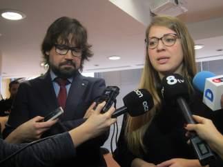 Ricard Font y Janet Sanz