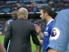 Pep Guardiola negó el saludo a Cesc Fàbregas