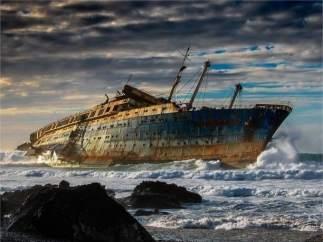 Barco fantasma en Fuerteventura