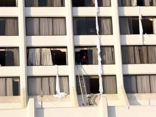 Incendio en un hotel de Pakistán