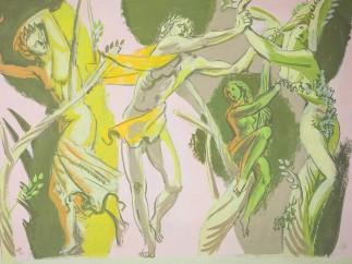 Hans Feibusch - Preparatory Study for Mural, 1952
