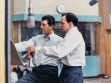 Frank Sinatra and Dean Martin at the sessions for Martin's Sleep Warm LP, Ken Veeder, Capitol Tower Studio B, October 1958