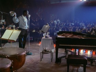 Nat King Cole at the show recorded for his At the Sands LP, Ken Veeder, Las Vegas, January 14, 1960