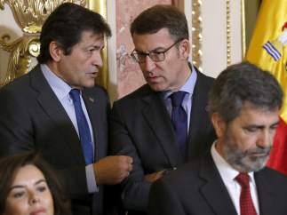 Alberto Núñez Feijóo y  Javier Fernández