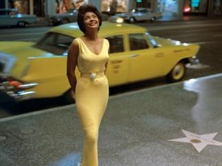 Jazz singer Nancy Wilson on Hollywood Boulevard, Ken Veeder, Hollywood, 1963