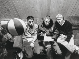 The Beastie Boys shortly after Ill Communication became the first of their three consecutive No. 1 albums for Capitol. Ari Marcopoulos, Vienna, 1995