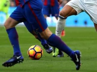 Imagen de archivo de un partido de fútbol