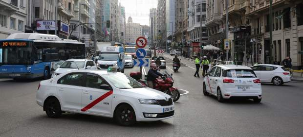 Cortes de tráfico en Gran Vía