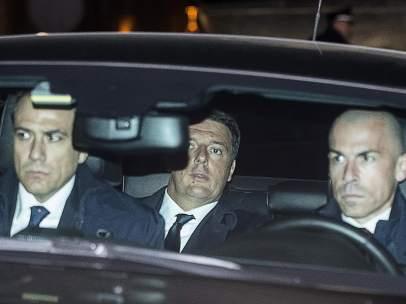 Renzi llega al Quirinale para presentar su dimisión