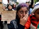 Ciudadanos despiden a la niña Yuliana en Colombia