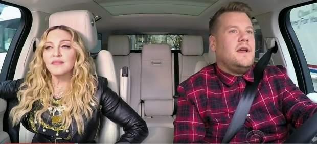 Madonna confiesa en 'Carpool Karaoke' que besó