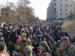 Siria detiene los bombardeos sobre Alepo... pero aún se escuchan disparos de artillería