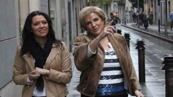 Marcela Topor y Pilar Rahola