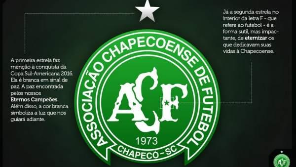 El Chapecoense cambia su escudo en honor a las víctimas