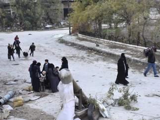 Evacuaciones en Alepo