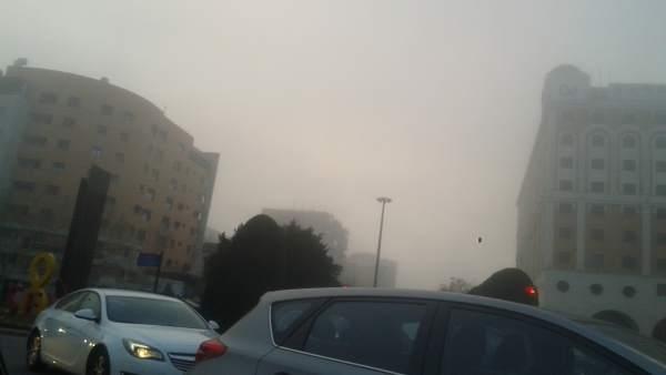 Niebla en Sevilla a primera hora de la mañana