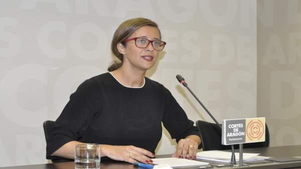 La portavoz adjunta del Grupo Popular de las Cortes de Aragón, Marian Orós.
